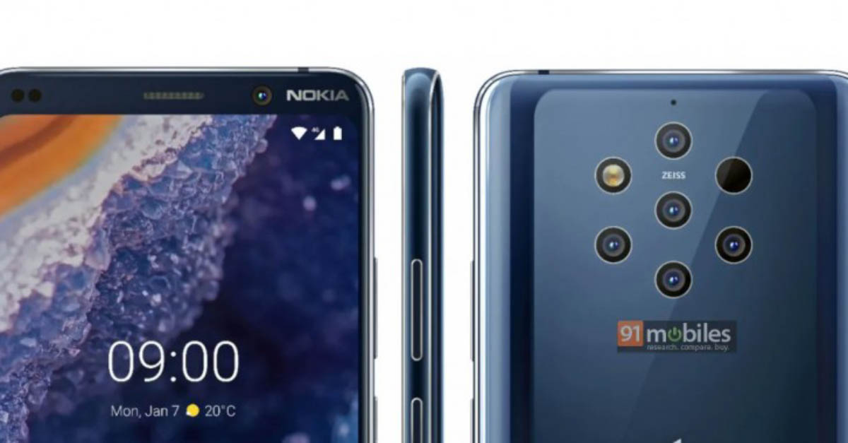 Nokia 9 PureView smartphone Android