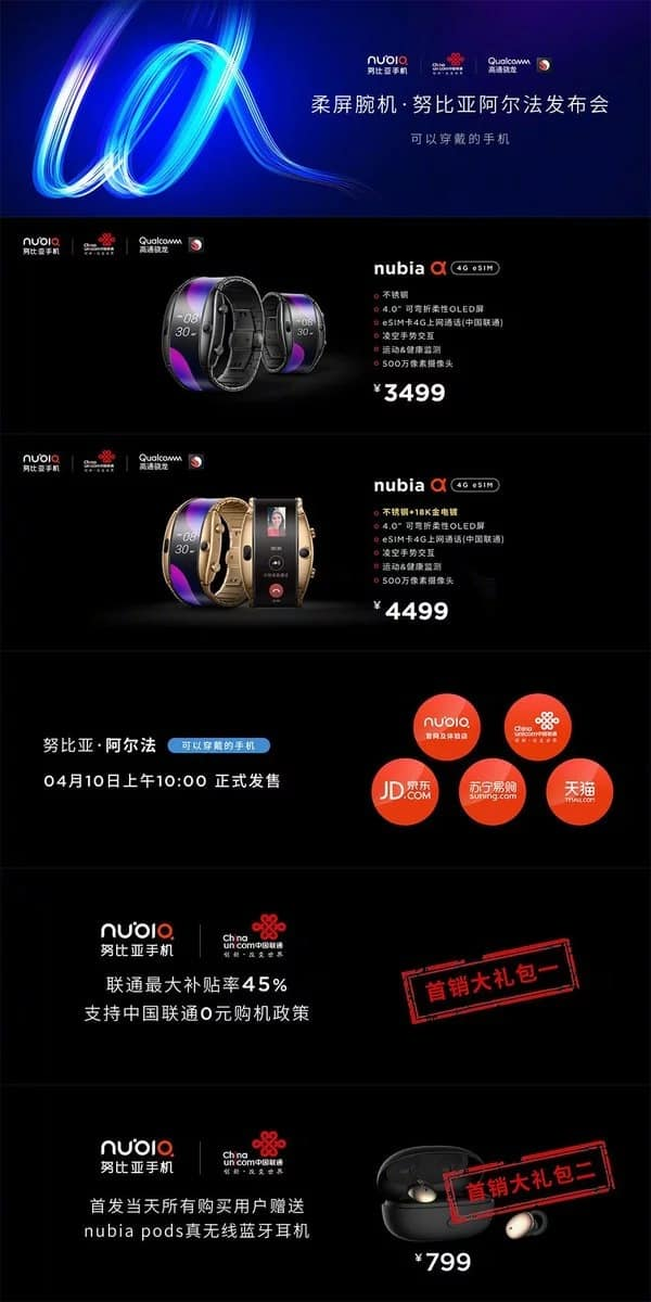 Nubia Alpha llegó a China