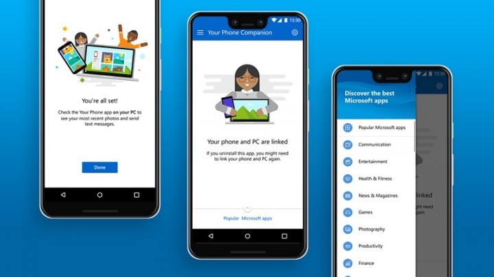 Windows 10 Android Microsoft Your Phone integración