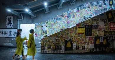 Post-its muros exponen las voces de Hong Kong contra China