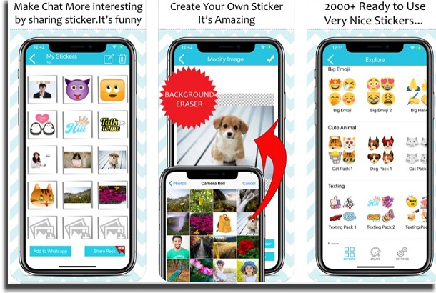 aplicaciones para Whatsapp Sticker Maker
