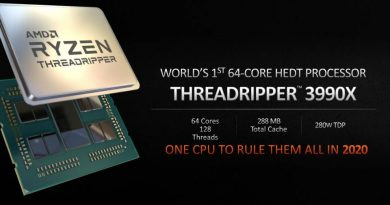 AMD Ryzen Threadripper 3990X com 64 cores confirmado para 2020