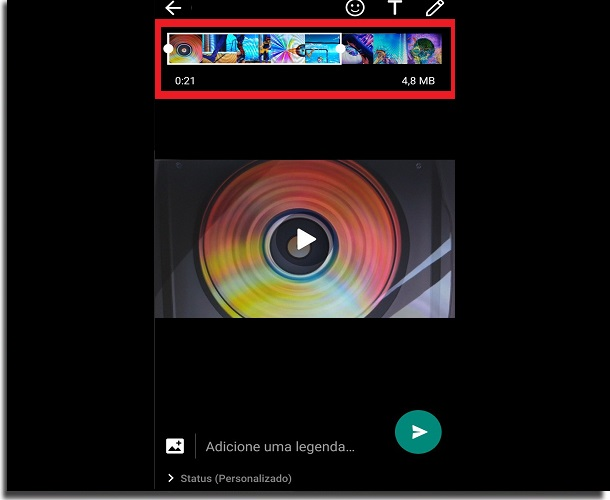 cortar video al estado de whatsapp