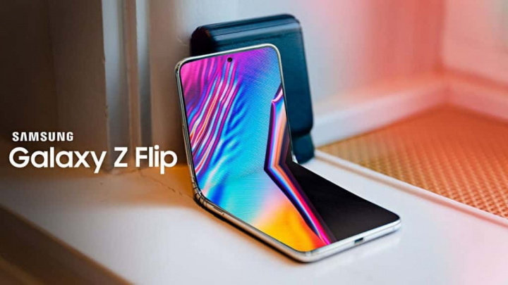 Galaxy Z Flip Samsung video teléfono inteligente