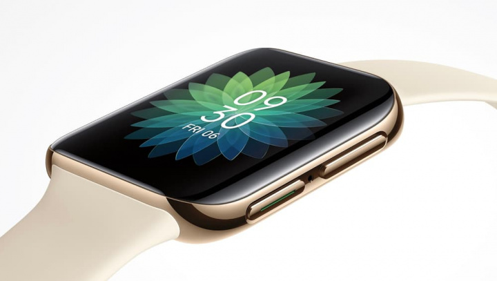 Imagen del reloj inteligente de la competencia OPPO Watch de Apple Watch