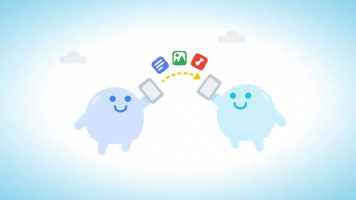 Compartir cerca Android Chrome Google Sharing