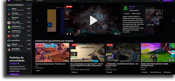 En la web Facebook Gaming o Twitch