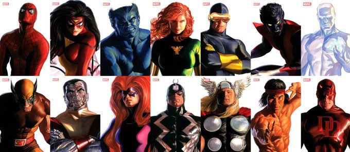 Alex Ross Timeless Marvel Portraits