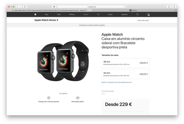Imagen de Apple Watch Series 3 con watchOS 7