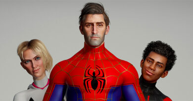 Spider-Man: Into the Spider-Verse Photorealistic Characters