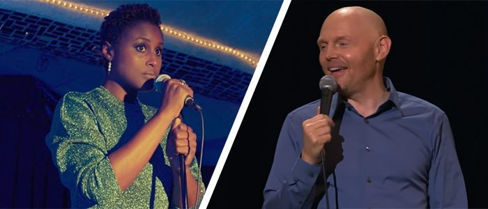 Issa Rae y Bill Burr presentando Saturday Night Live