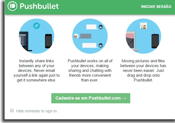 usa el pushbullet