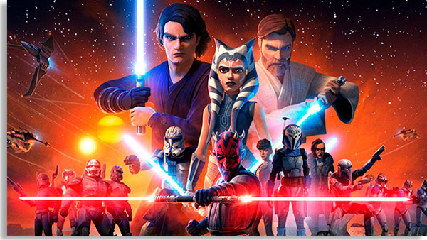 pantalla promocional de star wars: the clone wars